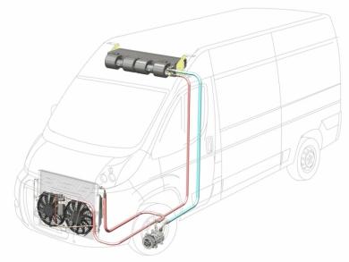 Сплит-система с передним расположением конденсора 6 кВт