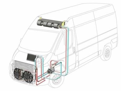 Сплит-система с передним расположением конденсора 9 кВт
