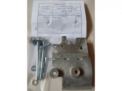 Комплект кронштейна компрессора на Peugeot Partner с двс DV6 1.6Нdi
